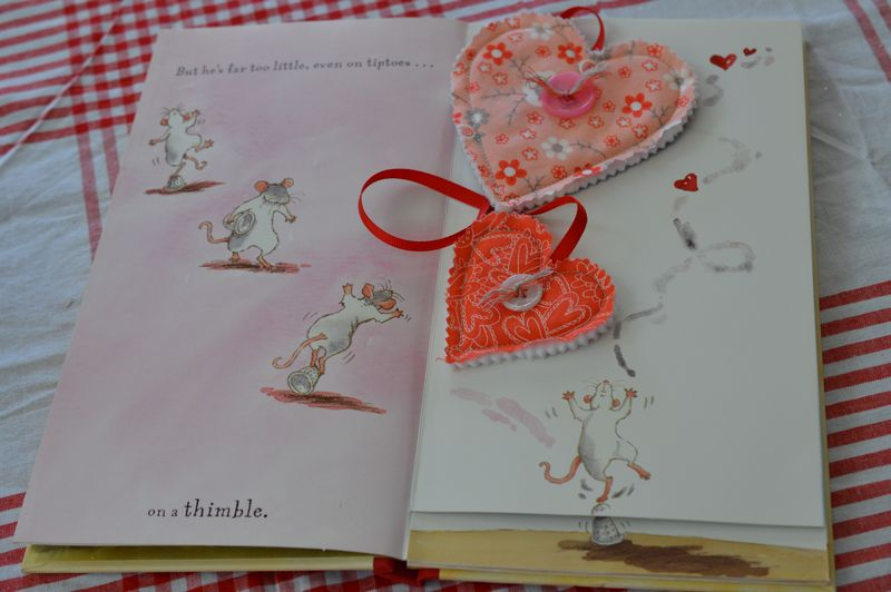 Inside book w/Heart bookmark
