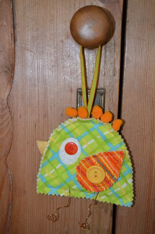 April free bird pattern photo - doorknob