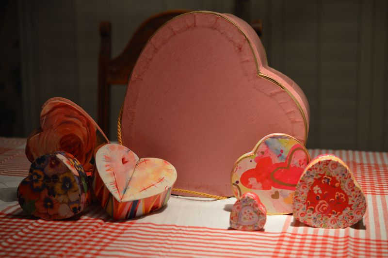 Heart boxes - paper