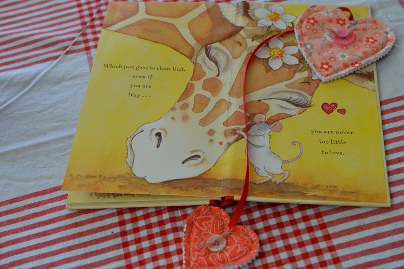 End of book with Heart bookmark
