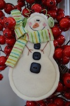 Jan green snowman small