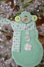 Jan blue snowman small