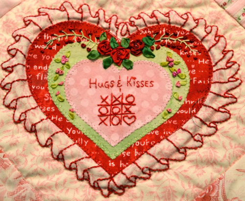 Embellished Hearts - Ruffled Heart full heart