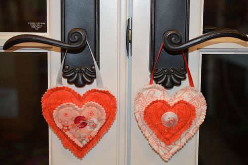 Hearts on french doors