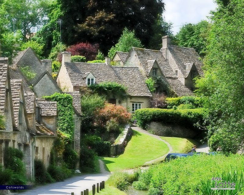 English village - buff stone