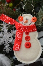 Jan Free Red Snowman - small