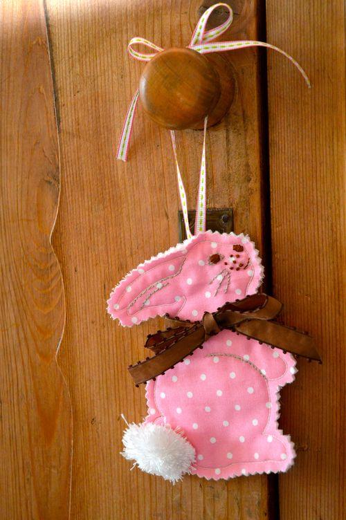 Bunny on doorknob