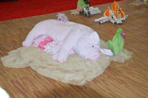 Pig- Shamrock Fabrics display 2013